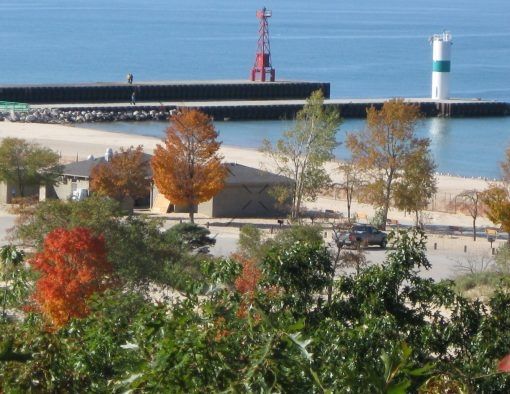 72-Autumn View of Lake Michigan